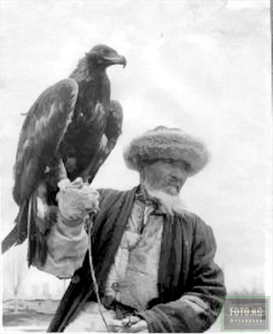 Kirghiz falconer with the Golden Eagle in May 1949