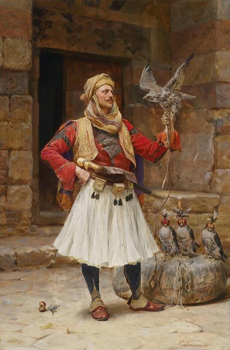 Painting Falconer 2 by Paja Jovanovic
