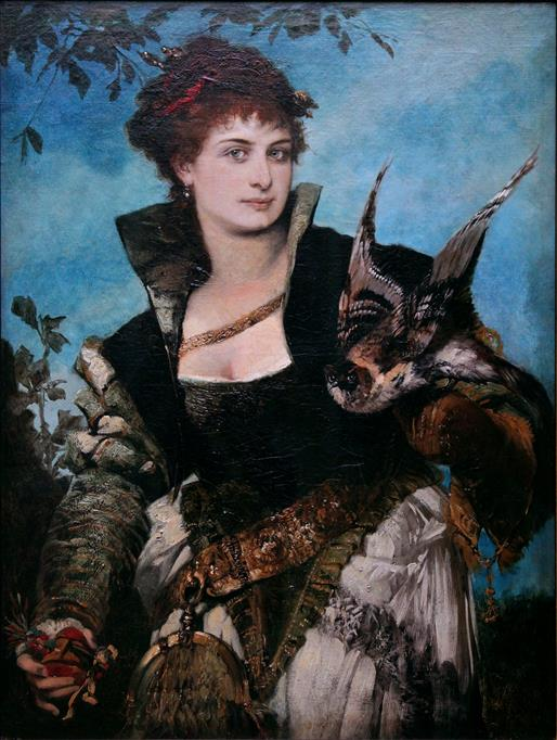 The Falconer by Hans Makart