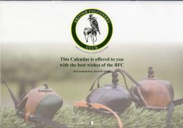 British Falconers' Club calendar for 2015 - back cover