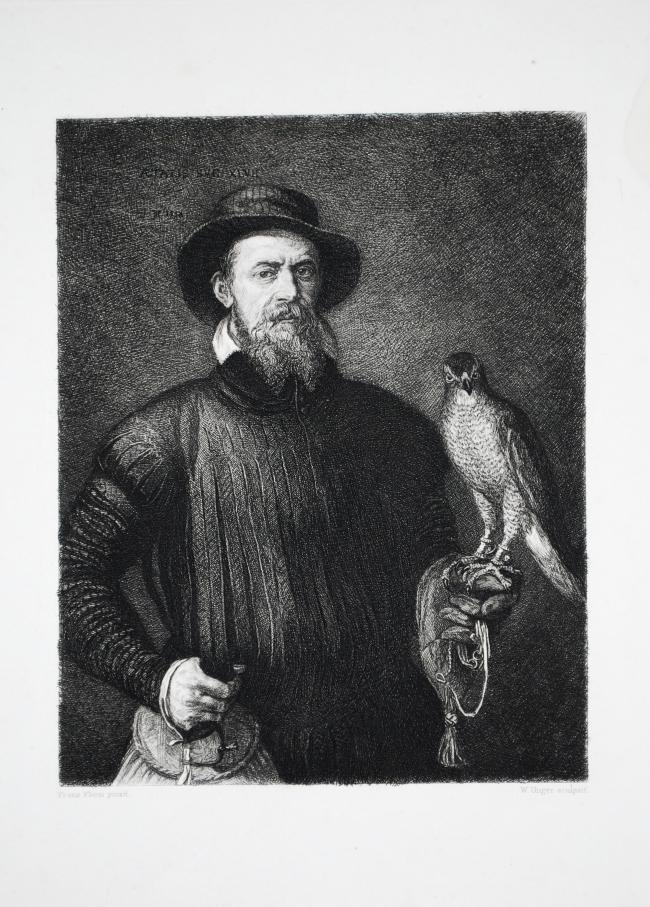 Frans Floris (1517-1570) Der Falkenjäger [The falconer] 1888 Large scale