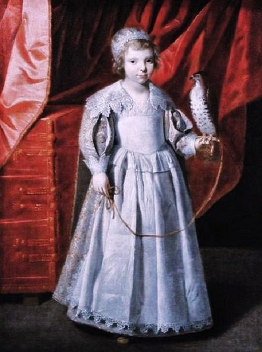 Portrait of Anna Maria de Chevreuse her father was the chief falconer of France L