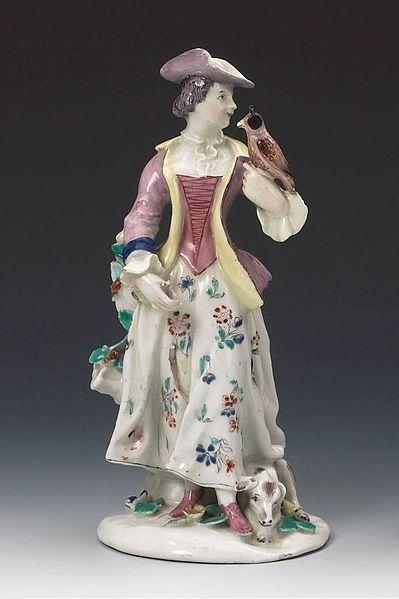 Bow Porcelain Factory - Lady Falconer - c1755