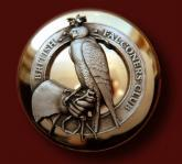 Button of British Falconers Club - engraver Alain Lovenberg