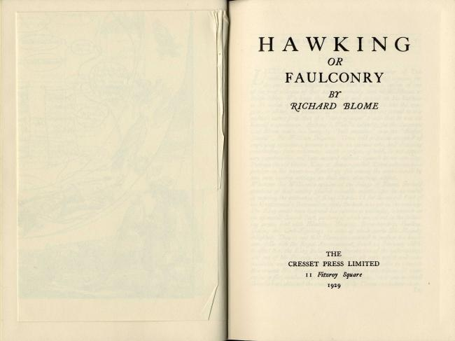 Hawking or Faulconry by Richard Blome