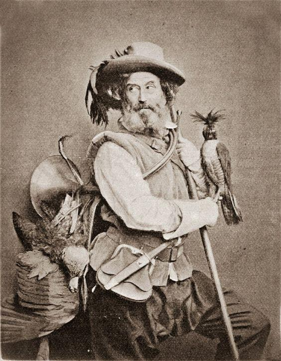 Falconer, 1857. Photographer: William Frederick Lake Price (1810–1896), England