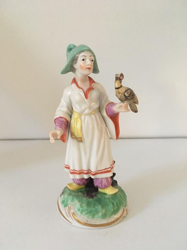 Ludwigsburg Porcelain Figurine of a Chinese Falconer 1