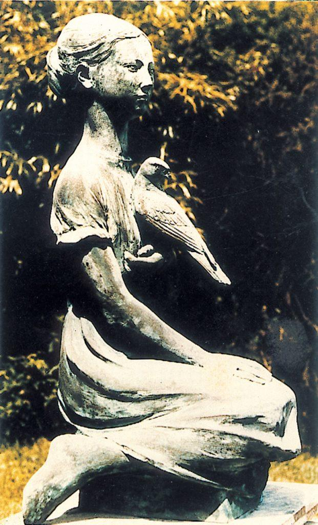 Girl and Falcon  Sculptor  – The Late Edwin Russell husband and fellow sculpt)or of Lorne Mckean.
