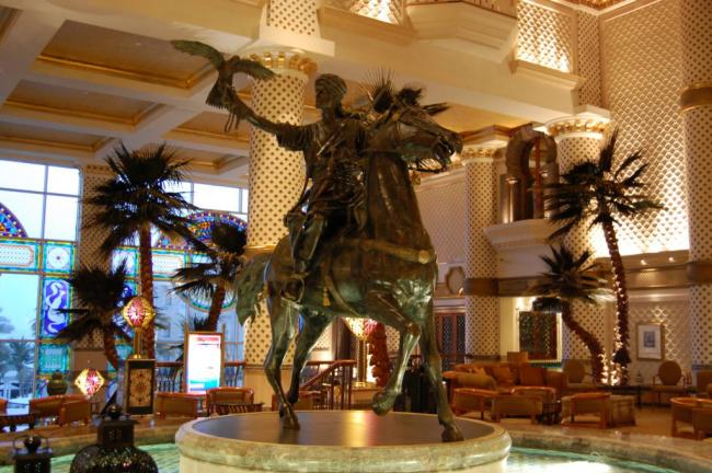 Iconic Falconer Horse in Grand Hyatt Hotel in Muscat, Oman 2