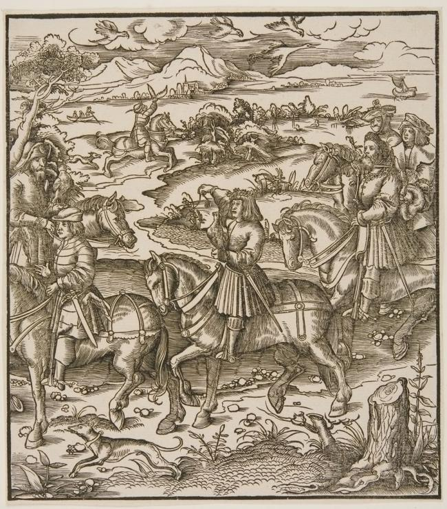 The discovery of the pleasure of falconry by Leonhard Beck (1480-1542)