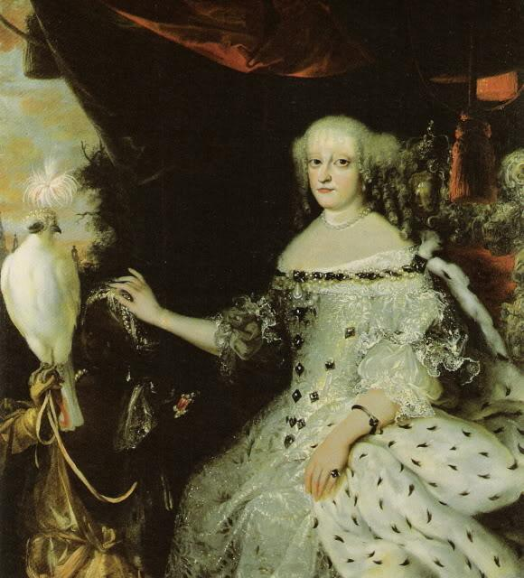 Portrait of Sophie Amalie of Brunswick-Lüneburg by Abraham Wuchters, made c. 1670
