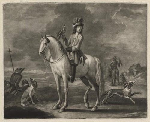 The mounted falconer by John Smith (1652-1742)