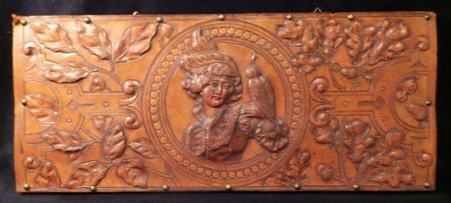 Rare Falconry beautiful old Panel Falconer Nobility Fauconnerie masterpiece Falconry Hawking Falkner