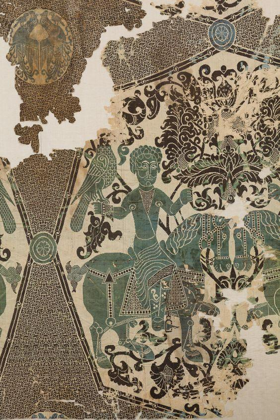 Fondation Abegg Stiftung Falconer on horseback Silk double-cloth, Iran, 11th century. oriental