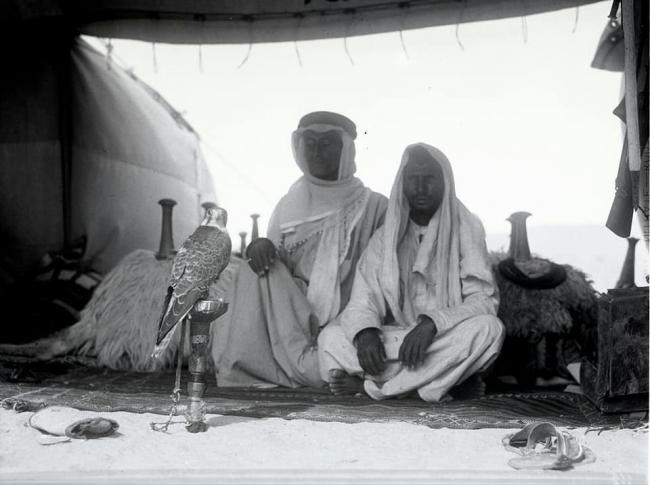 Arab falconers from KSA from Standard Oil Collection in 1934 - 1