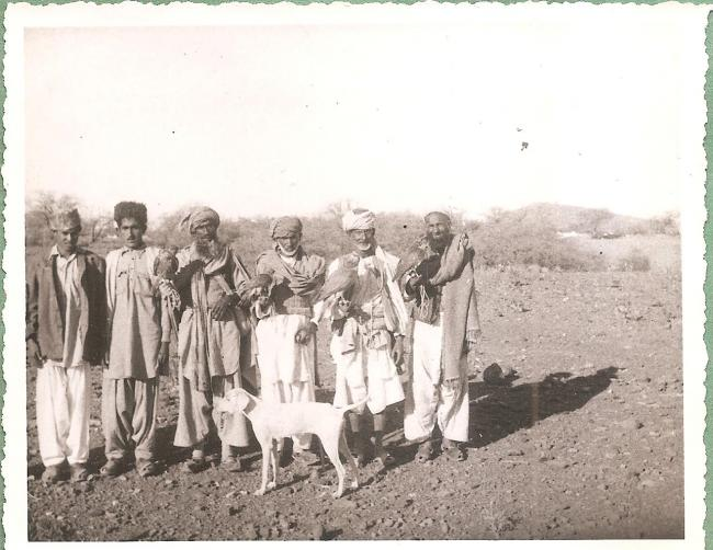 Falconers with falcons and hawks photographed by Eustace Poles in Kashmir in 1945-1946 (2)