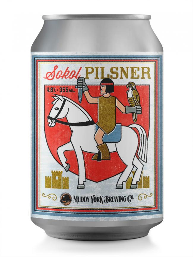 Sokol Pilsner Beer - Muddy York Brewing Co. 4,8% - 355 ML