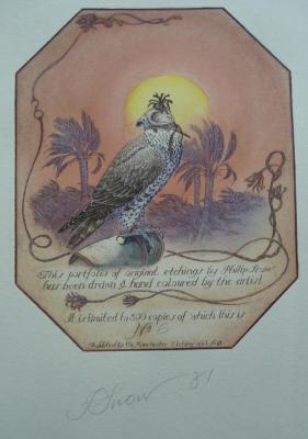 Snow (Philip)The Falcon, a portfolio of original etchings, hand coloured by the artist, nd. [1981],