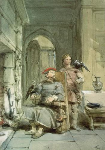 Knight and Page (Ritter und Seite) by George Cattermole (1800-1868)