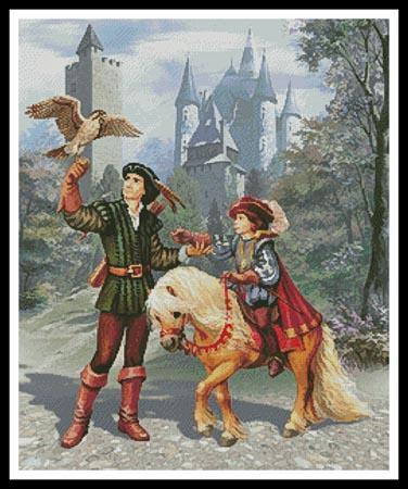 Prince and Falconer Artecy Cross Stitch